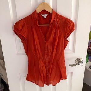 Banana Republic orange blouse